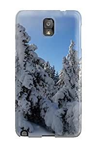 Bareetttt KWuSwFI1357rxyED Case For Galaxy Note 3 With Nice Snow Trees Hdtv 1080p Appearance