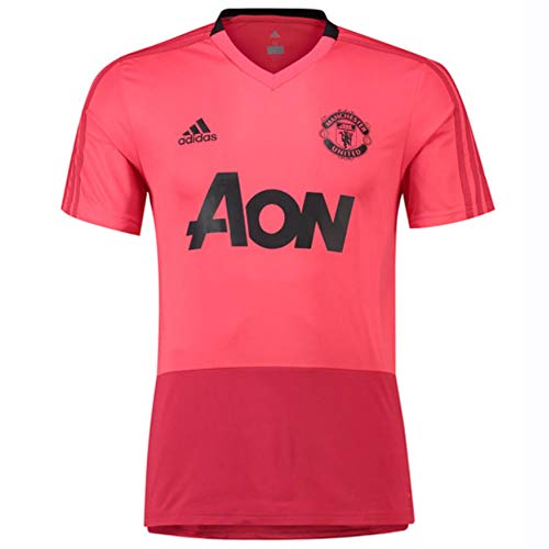 adidas 2018-2019 Man Utd Training Football Soccer T-Shirt Jersey (Pink)