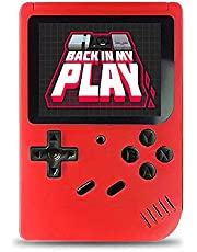 2021 Mini 400 in 1 Game Player 8 Bit Game Console Gameboy 3.0 Inch Color LCD Screen Retro Game Box Two Players for Kids Gift red