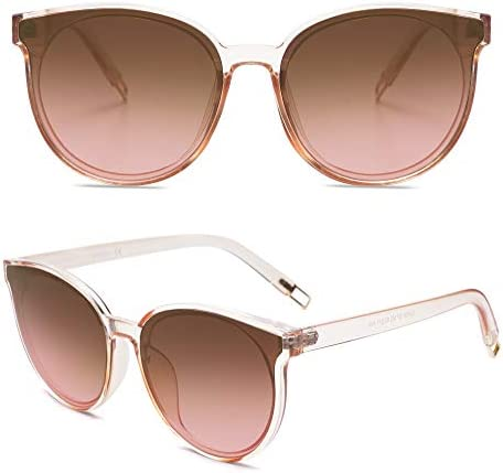 SOJOS Fashion Round Sunglasses for Women Men Oversized Vintage Shades SJ2057