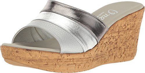 onex-womens-balero-pewter-silver-leather-combo-wedge