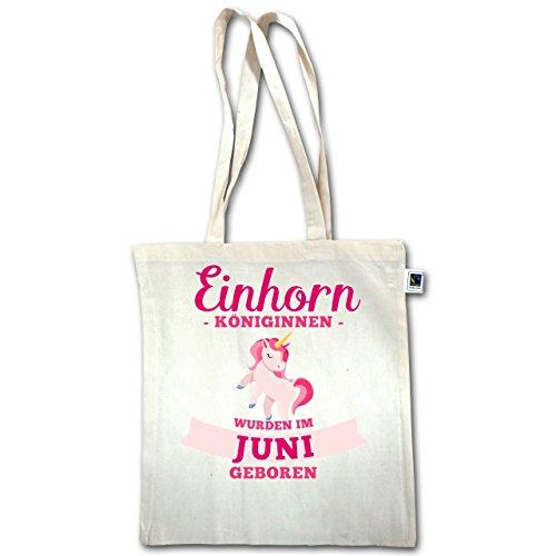 Compleanno - Regine Di Unicorno Nate In Giugno - Unisize - Natural - Xt600 - Manici Lunghi In Juta Bag