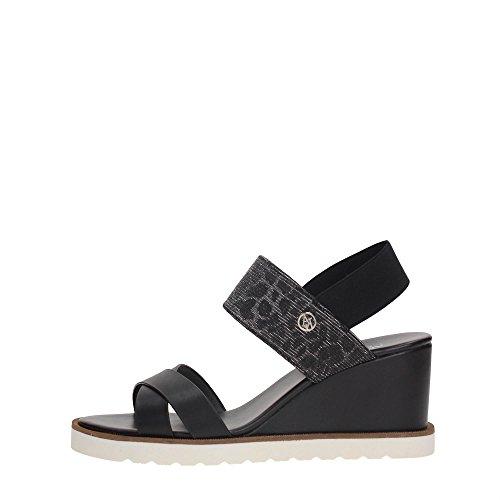AJ Armani Jeans 925140 Zapatos De Cuña Mujer Nero