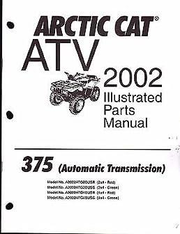 2002 arctic cat 4x4 375 automatic service repair manual