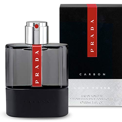 Ṗradä Luna Rossa Carbon Cologne EDT Spray For Men 3.4 OZ. / 100 ML.