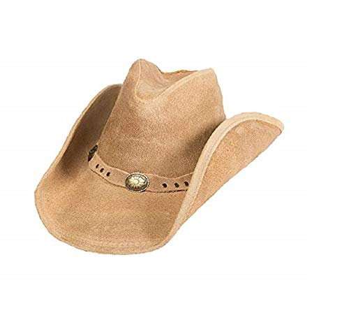 Minnetonka Silverton Dude Hat,Tan Ruff Leather,L US
