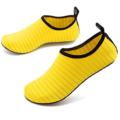 Womens Skin Black Socks 45 Red Sports Aqua Shoes Green Dry Beach Kids Barefoot Yoga Blue Yellow Quick Water Shoes NEOKER Pink On Mens 28 Slip Yellow Swimming 0Btxfqw