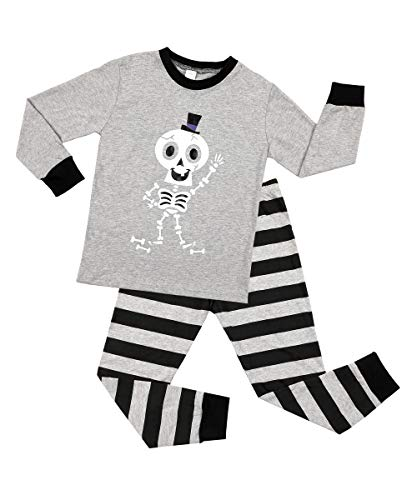 V FOR CITY Halloween Boys Pajamas Clothes Set Cotton Little Girls Kids Pjs Sleepwear 4T Gray