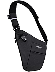 WATERFLY Sling Bag, Lightweight Casual Daypack Chest Shoulder Bag for Men Boy