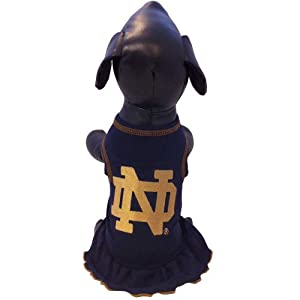 All Star Dogs NCAA Notre Dame Fighting Irish Dog Cheerleader Dress, Small