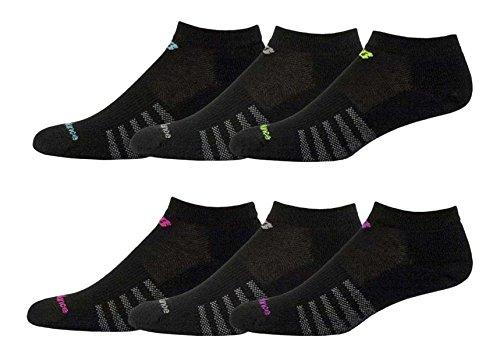 New Balance Unisex 6 Pack Low Cut Core Cotton Socks Black