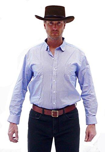 Straightline Mens Clint Eastwood Western Cowboy Railroad Shirt - Great Gift  White 8ea4a9d55048
