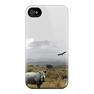 High Quality 6Plus Hluhluwe National Park Skin Case Cover Specially Designed For Iphone - 4/4s WANGJING JINDA