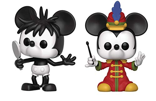 - Funko Pop Disney Mickey's 90th Anniversary - Set of 2 Pops, Plane Crazy Mickey and Band Concert Mickey Pop! Vinyl Figure