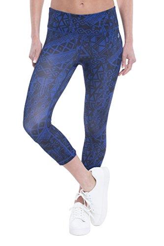 Penn Women's Athletic Performance Crop Capri Compression Leggings - Spectrum Blue Spectre, Large