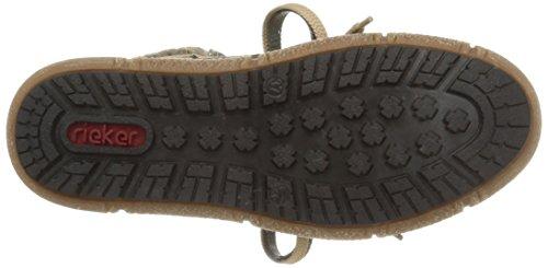 Rieker - botines de caño bajo de material sintético mujer gris - Grau (fumo/schwarz/graphit / 46)