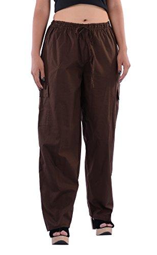 Indi Bargain Cotton Yoga Pants for Women And Men 2 in 1 stylish harem - Brown Indi