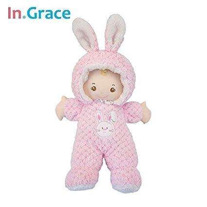 HT TOYS Super Cute Pink Rabbit Baby Born Dolls Sleeping Comt Doll Soft Plush and Stuffed Baby Toys 43Cm Handmade