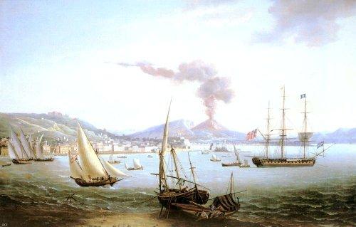 North Frigate Bay - John Thomas Serres An English Frigate In The Bay Of Naples - 18
