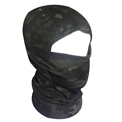QHIU Tactique Masque Cagoules Ninja Capuche Camouflage Visage Protection Sport en Plein Air Extérieur Armée Cyclisme… 3