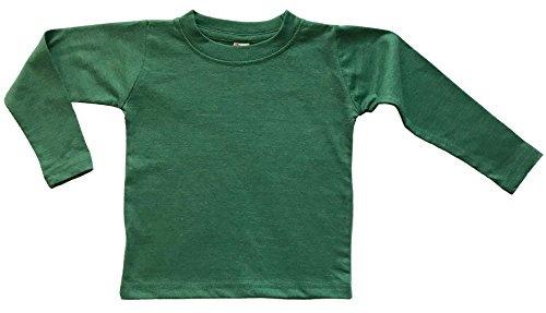 Kelly Ribbed Green (Earth Elements Little Kids'/Toddlers' Long Sleeve T-Shirt 2T Kelly Green Melange)