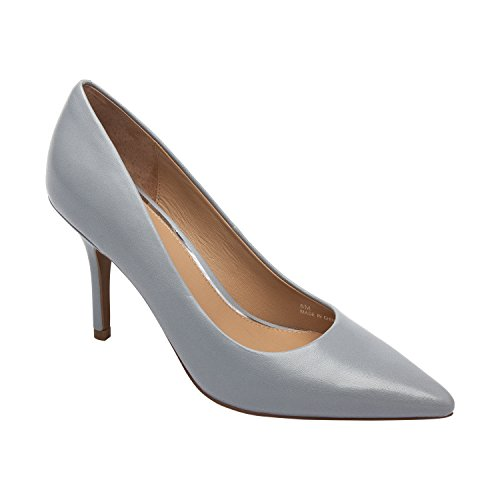Linea Paolo Presley | Womens Pointy Toe Comfortable High Heel Stiletto Pump (New Spring) Blue-grey Leather 7Psy0