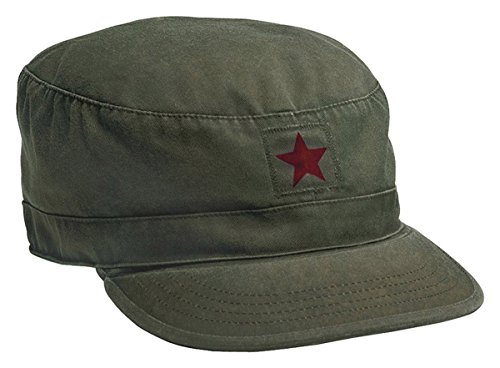 74d81ecaa13 Jual Rothco Vintage Olive Drab Fatigue Cap Red Star - Men