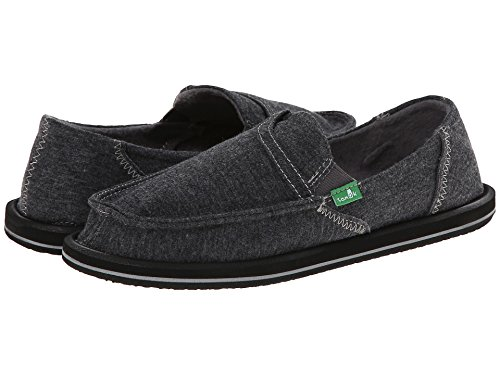 Sanuk Women's Pick Pocket Fleece Flat Charcoal 2