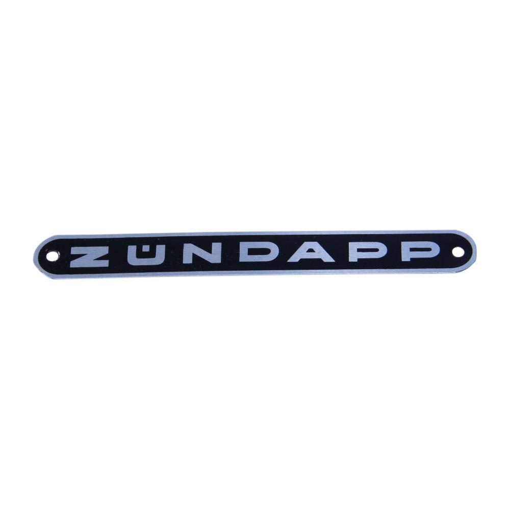 Z/ündapp Sitzbank Emblem schwarz mit Silber Schrift f/ür Combinette C GTS 50 Sitzbankemblem