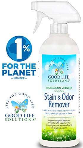 Stain Remover And Odor Eliminator - The Best Eco-Friendly, Professional-Strength, Blood, Vomit, Poop & Urine Cleaner- A Safer Plant-Based, Enzyme Formula For Carpet, Fabric, Upholstery & Hard Floors.