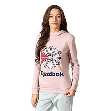 04efb531f8 Reebok Classics Women's Starcrest Pullover Fleece Hoodie (Shell Pink ...