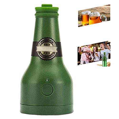 CLDGF Ultrasonic Beer Foamer, Portable Beer Dispenser, Party, Kitchen, Bar, Wine, Tools, Creative Gifts, Bubbler (2AA Not Included),Green]()