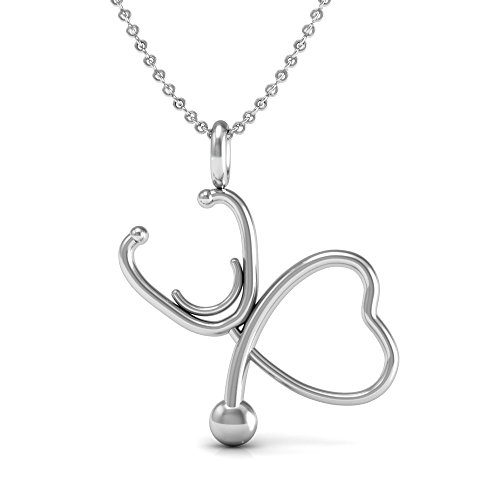 Stethoscope Pendant Necklace Sterling necklace product image