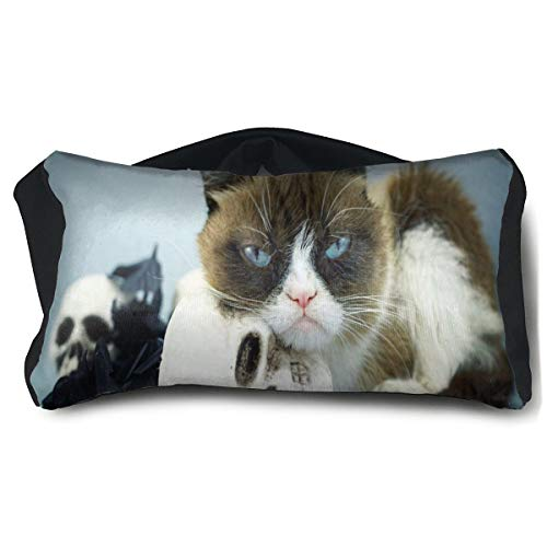 Special Eye Fx (Eye Pillow Grumpy Cat And Skull Special Unisex Portable Blindfold Train Sleep Eye Bag Bed)