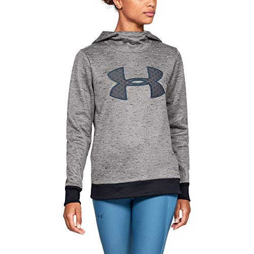 Under Armour Women's Synthetic Fleece Pullover, Black (004)/Static Blue, (Fleece Lightweight Pullover)