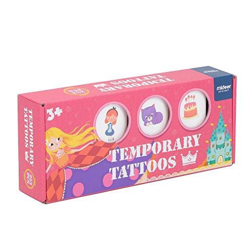Pegatina de Tatuajes Temporales con Caja de Regalo para Niños y Niñas con Más de 250 Patrones Tema Fiestas Navidad...