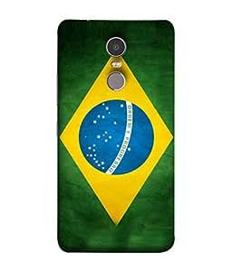 ColorKing Football Brazil 03 Multicolor shell case cover for Lenovo K6 Note