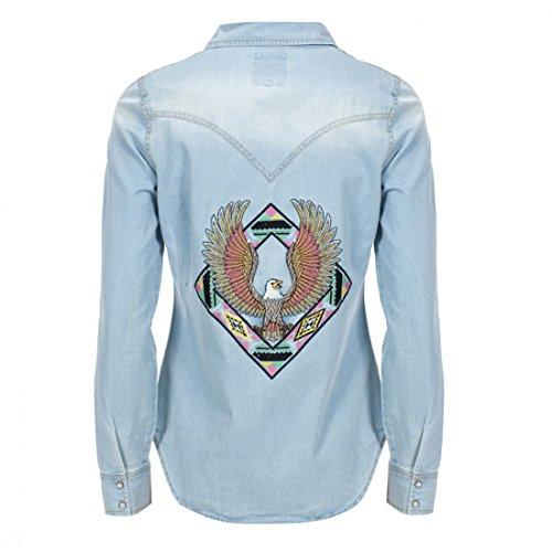Women's One Teaspoon Chambray Aguila Jackson Denim Shirt (L)