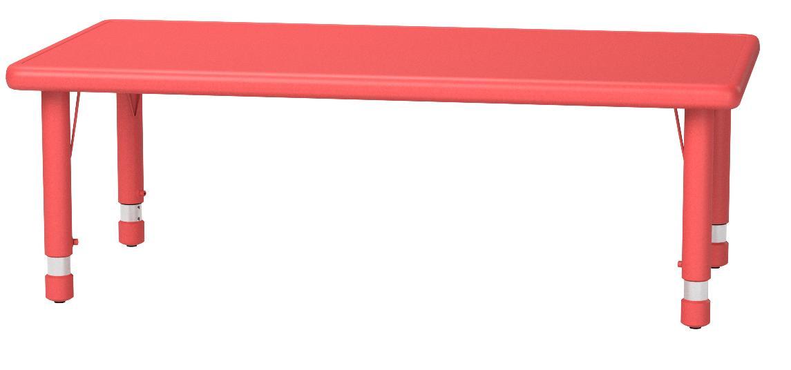 Flash Furniture Height Adjustable Rectangular Red Plastic Activity Table 24 X 48 Furniture Decor Amazon Com