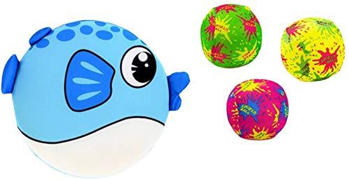 PROSPERITY DEVINE Pool & Water Fun Fish & Water Balls Splash-N-Swim Printed Critter Foam Pool Discs & Balls (Frisbe 7.75 in. & Water Balls 3.0 in.)