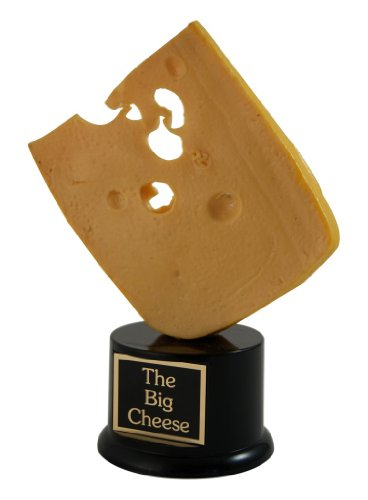 Fan Award (Far Out Awards Cheese Trophy - Swiss Cheese Lover, Cheesehead, Greenbay Packers Fan Gift, Funny Trophy)