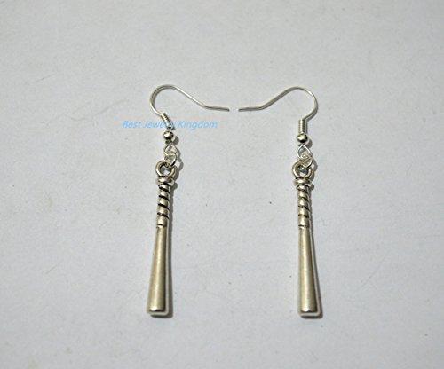 Baseball Bat Earrings - Accessories - Women's Jewelry - Gift Idea - Handmad,Baseball Bat Charms, Gift For Her, Baseball Mom, Baseball Team Gift jewelry gift,Gift for (Baseball Halloween Ideas)