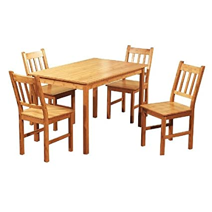 Amazon.com - Target Marketing Systems 5 Piece Bamboo Indoor Dining ...