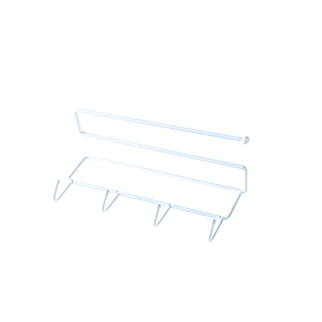 Tea Towels Cabinets Stainless Steel White Kecar Punch-Free Towel Racks Bar Hanger Holder Organizer for Bathroom Kitchen Walls Dish Above Counters Hand