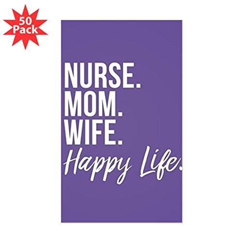 CafePress - Nurse Mom Wife Happy Lif - Sticker (Rectangle 50 pk) by CafePress