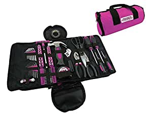 MASTERTEC Pink 88pc Roll Up Tool Kit