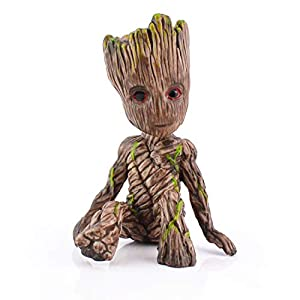 PGXT Tree Man Baby Groot Sitting Position Action Figure Doll Guardians of The Galaxy Vol. 2 , Model Statue Toy Decoration for Children Gifts - 6CM