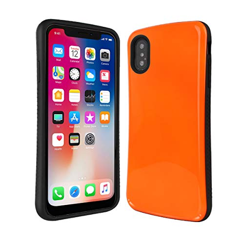 iPhone X Case | iPhone Xs Case | Premium Luxury Design | Military Grade 15ft. Drop Tested | Wireless Charging | Compatible with Apple iPhone X/iPhone Xs - Orange