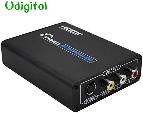 udigital HDMI a AV compuesto 3RCA R/L de audio y vídeo adaptador convertidor Upscaler ayuda 720P/1080P con RCA/S-Video Cable: Amazon.es: Electrónica