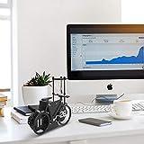 MIDCLOCK Bicycle Flip Clock, Retro Desk Clock, Flip